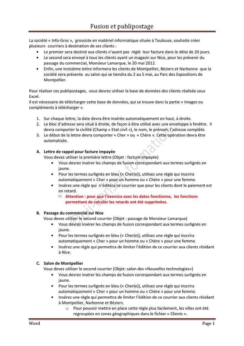 fusionner word et pdf