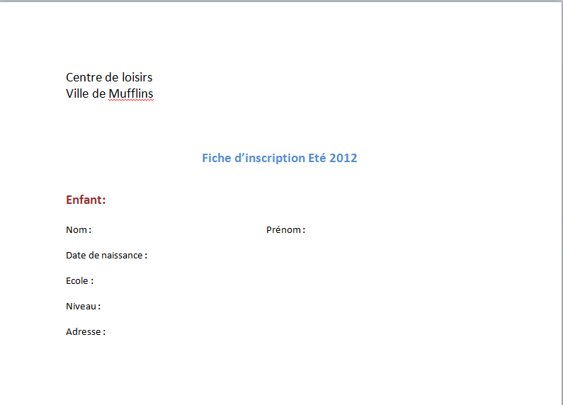 exemple de formulaire d inscription word